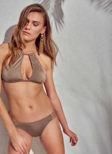 Morhipo Beach Göğüs Detaylı Bikini Bej